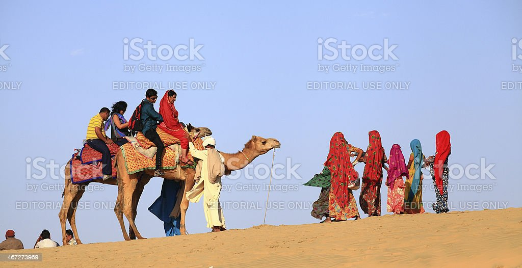 The Desert Festival in Jaisalmer. stock photo
