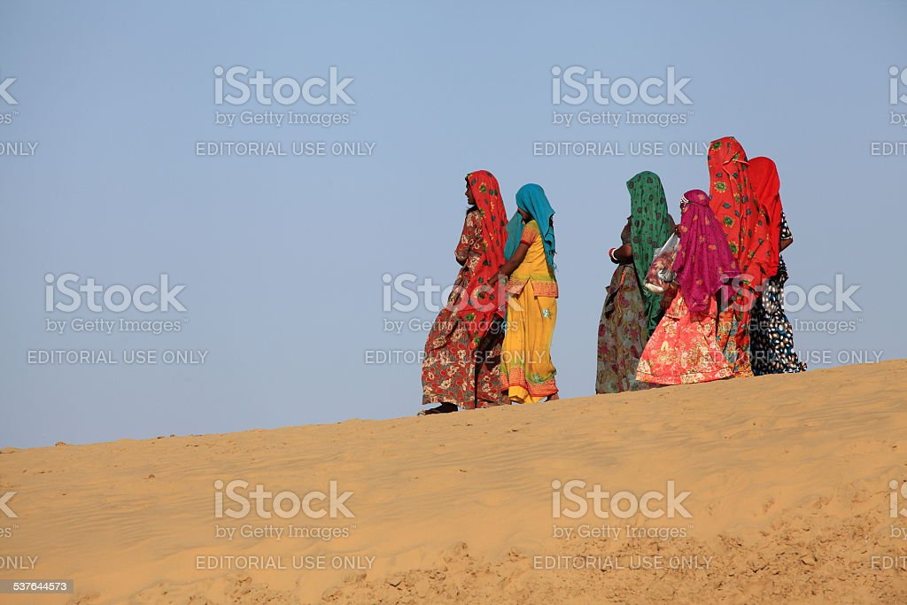 The Desert Festival in Jaisalmer stock photo