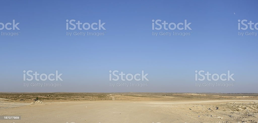 The desert landscape royalty-free stock photo