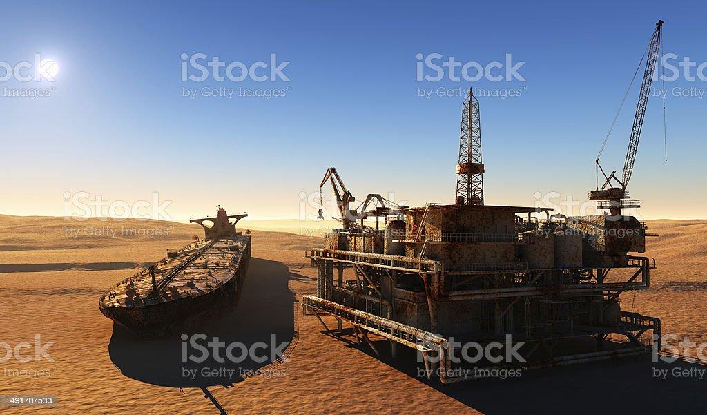 The desert. stock photo