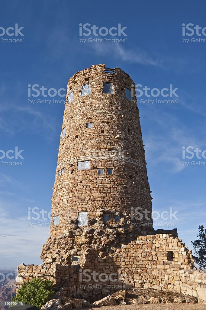 The Desert View Watchtower royalty-free stock photo