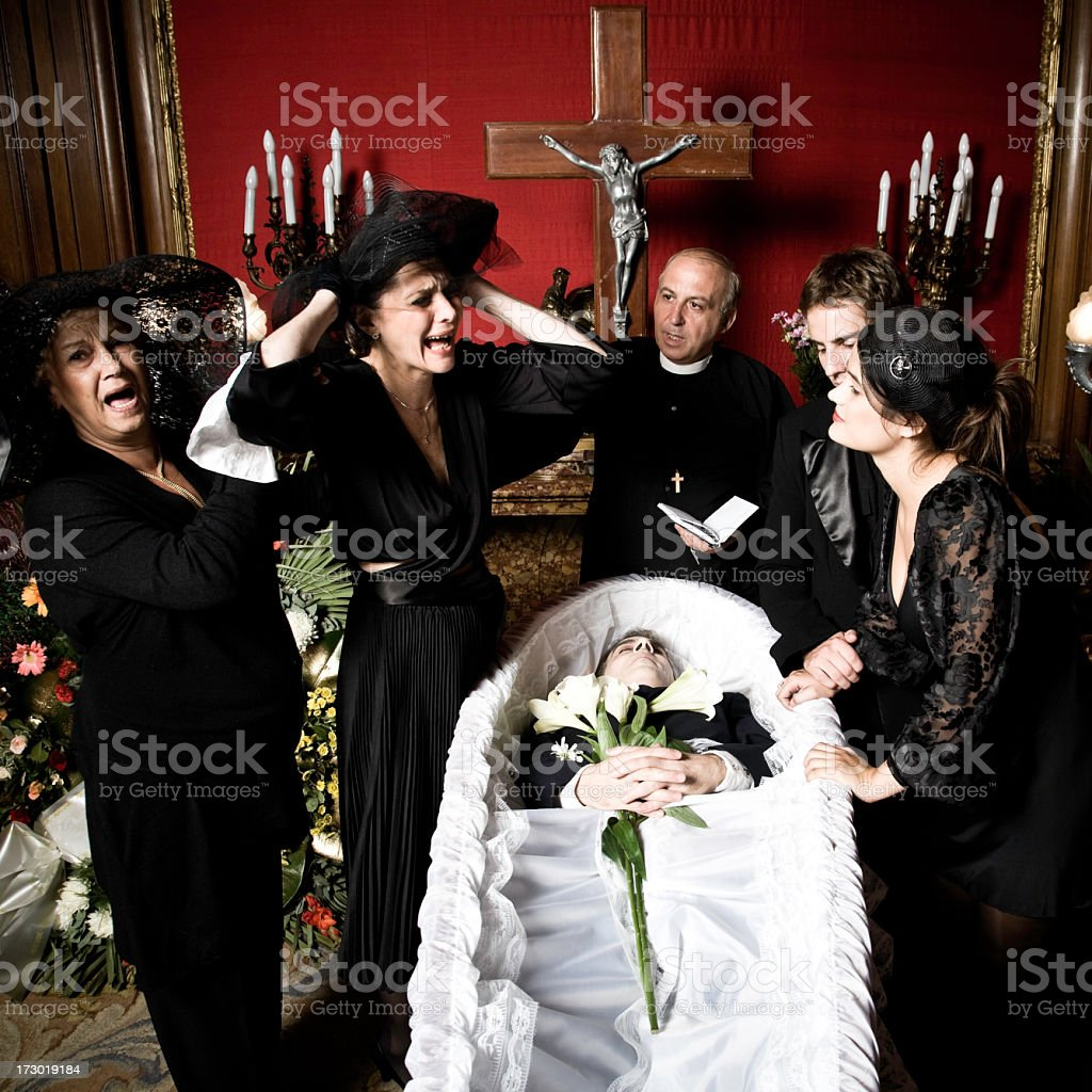 The Desperate Widow royalty-free stock photo