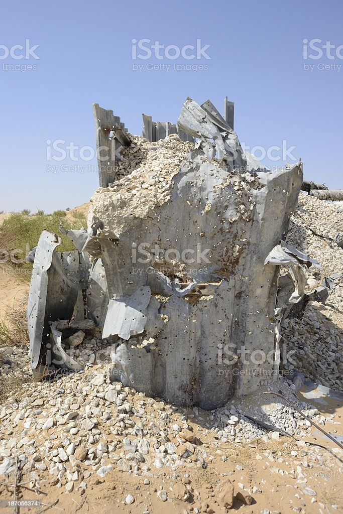 The destroyed defenses stock photo