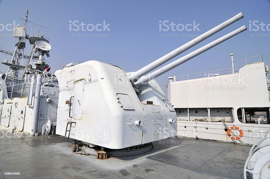The destroyer artillery royalty-free stock photo