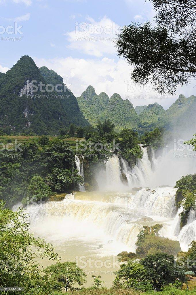The Detian waterfall, Guangxi,China royalty-free stock photo