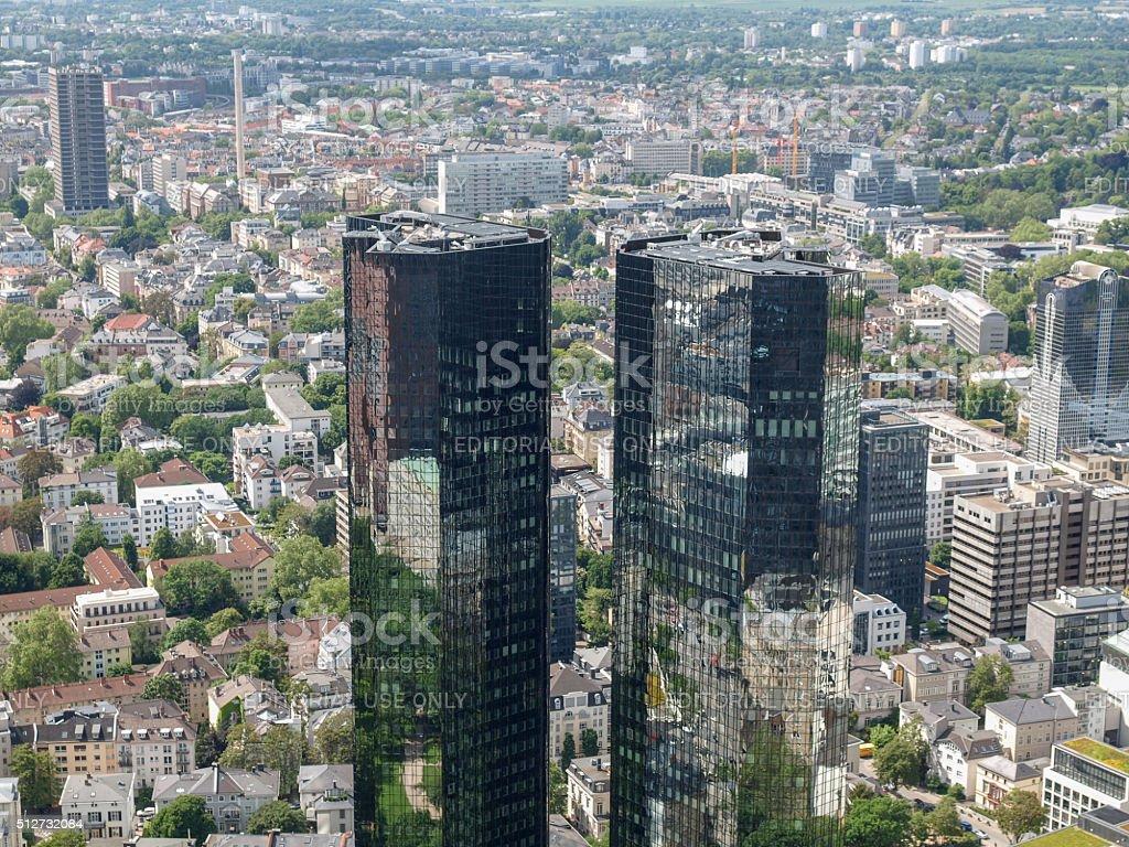 The Deutsche Bank headquarters stock photo