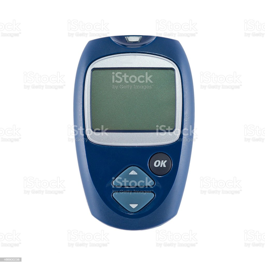 the device for measurement of level of sugar in blood stock photo
