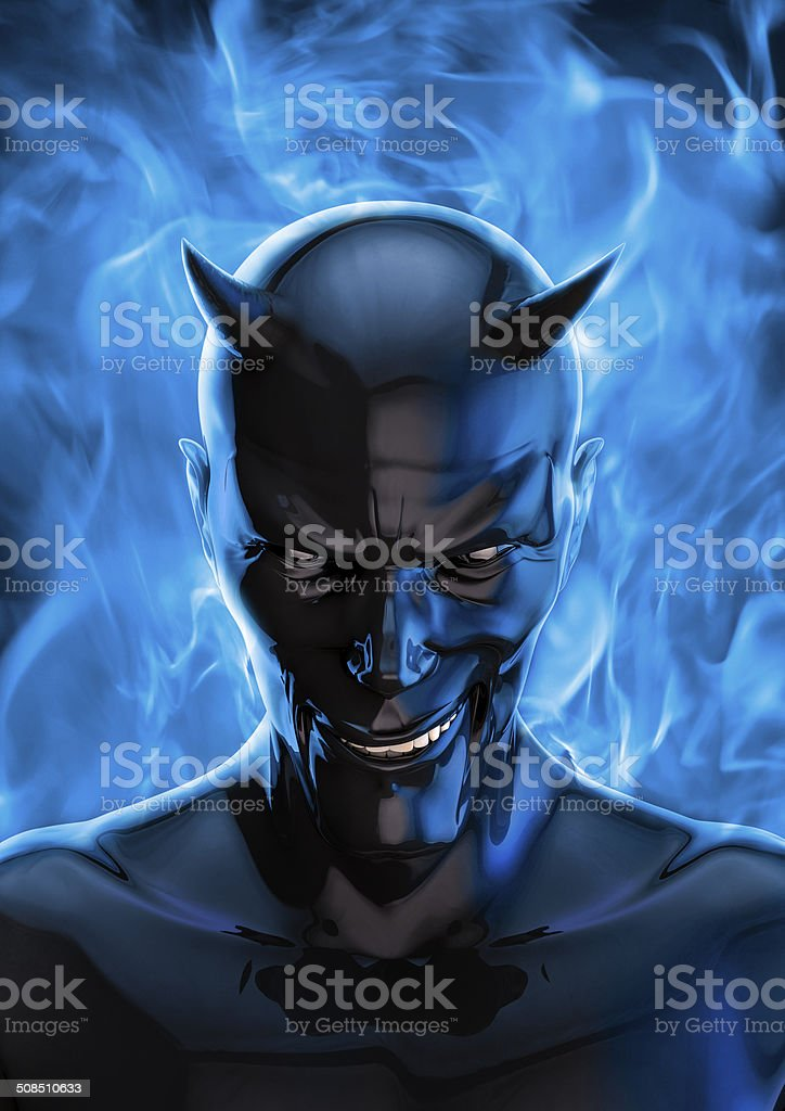 The devil in black stock photo