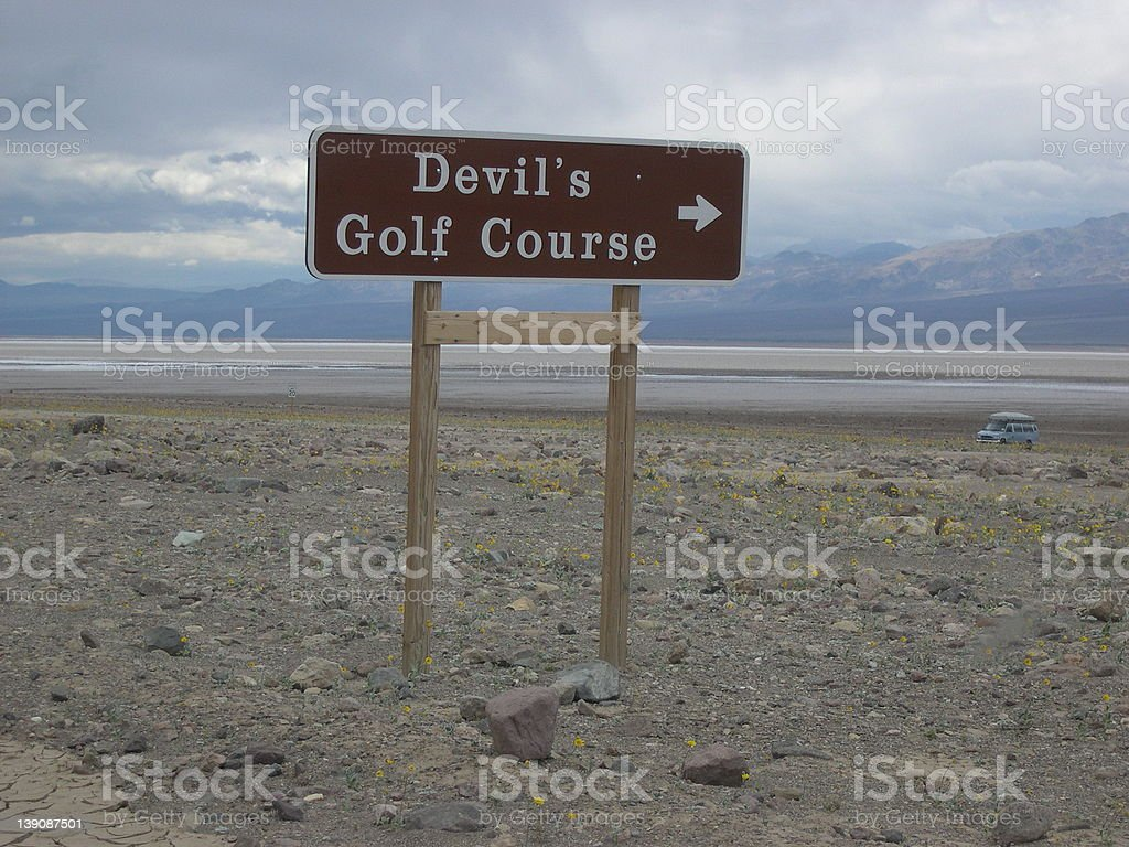 The Devil's Golfcourse royalty-free stock photo