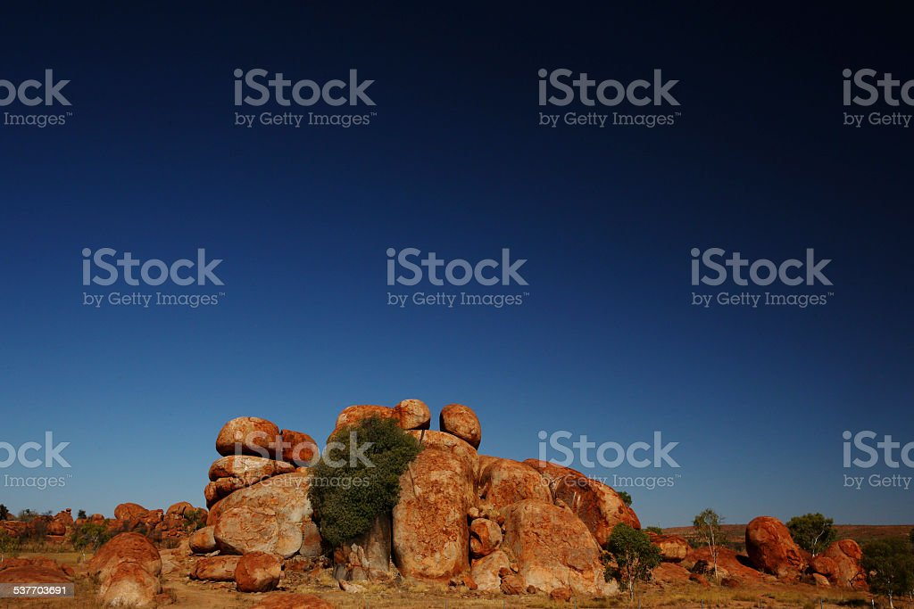 The Devil's Marbles stock photo