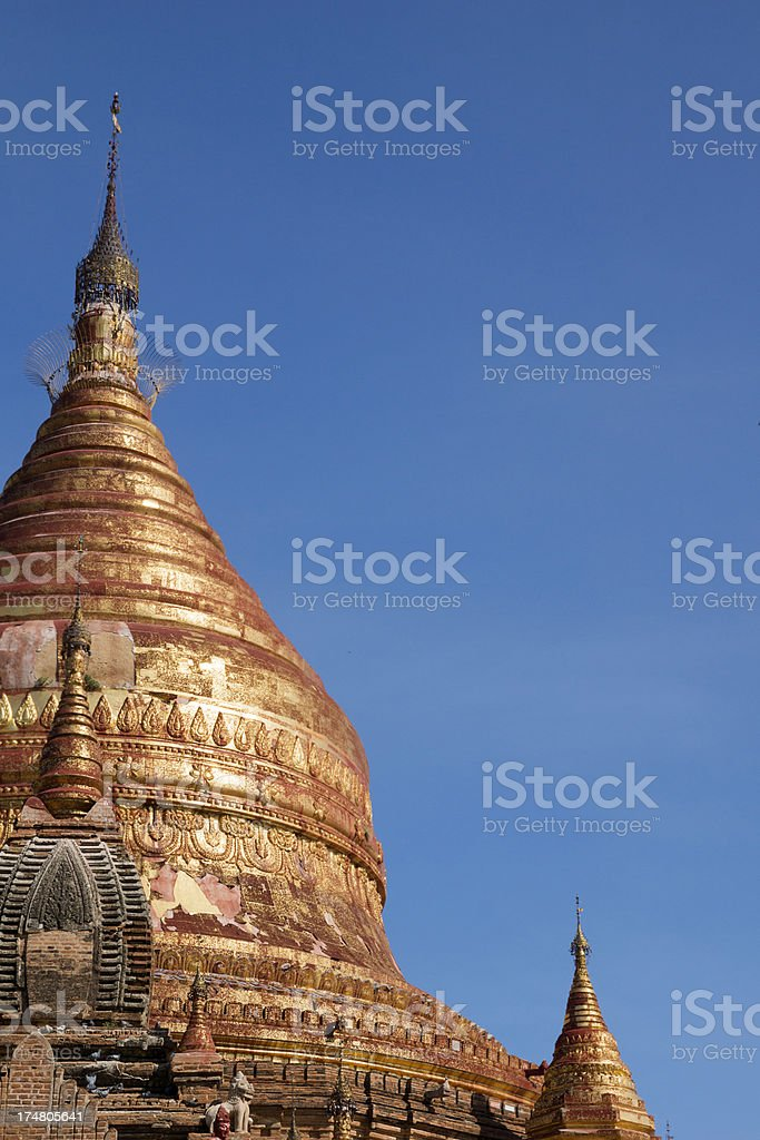 The Dhammayazika pagoda at Bagan, Myanmar. stock photo
