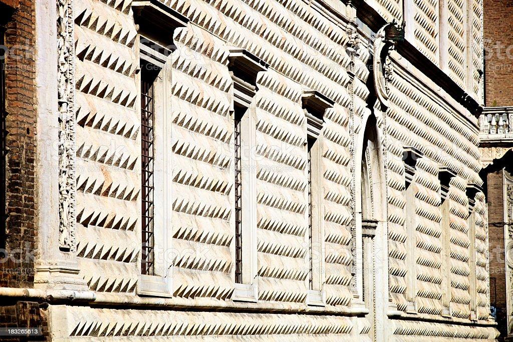 the diamond palace in Ferrara, Italy royalty-free stock photo