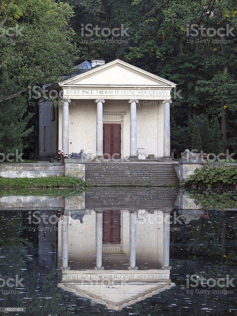 The Diana's temple in Arkadia - Poland royalty-free stock photo