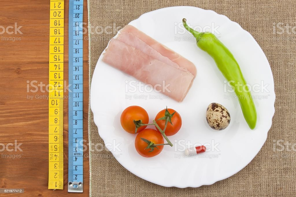 The diet for weight loss. Healthy food. stock photo