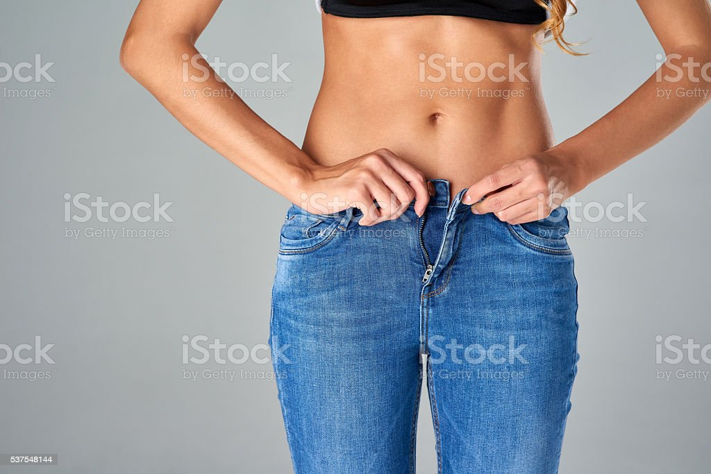 The diet paid off stock photo