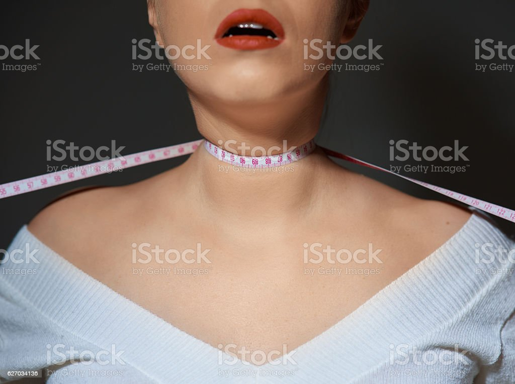 the diet suffocates me stock photo