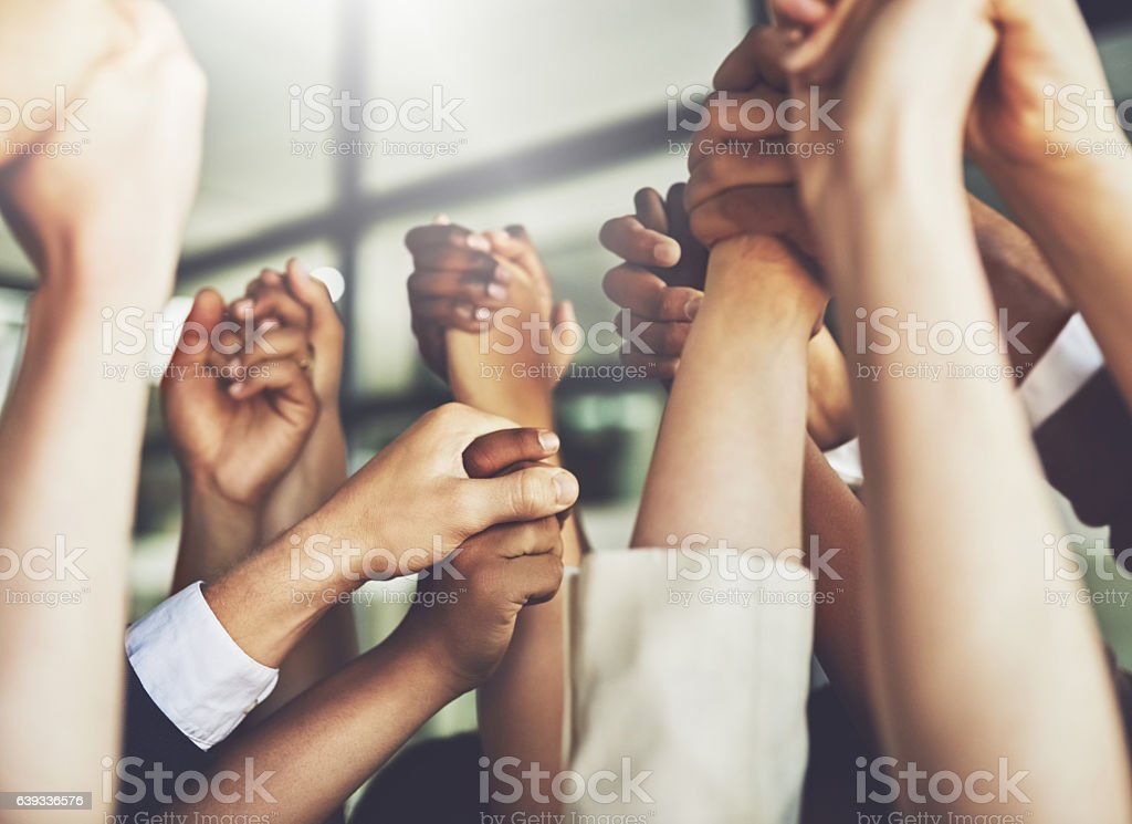 The difference between success and failure is a great team stock photo