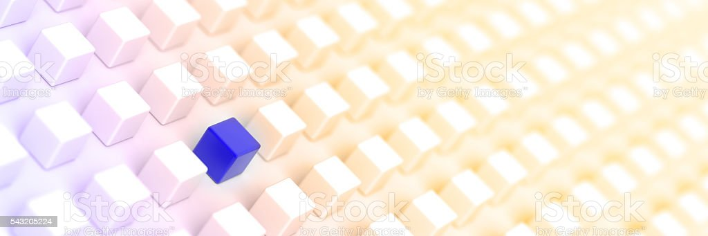 The different one stock photo