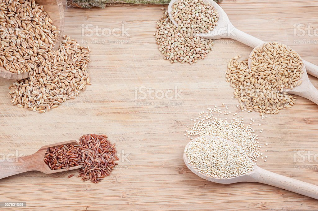 the different spice stock photo