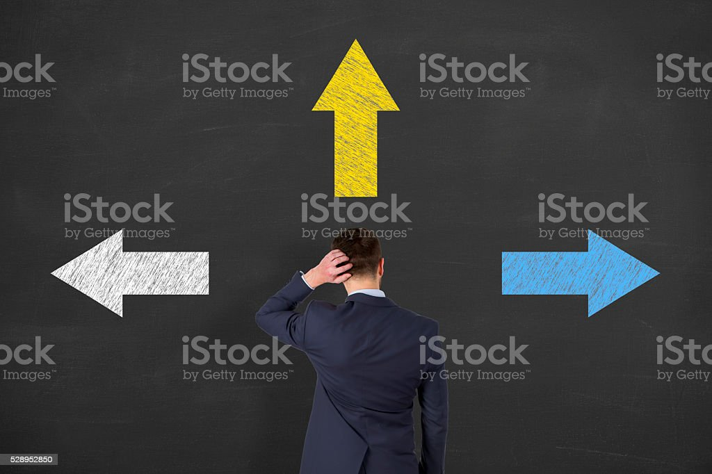 the difficulty of deciding stock photo
