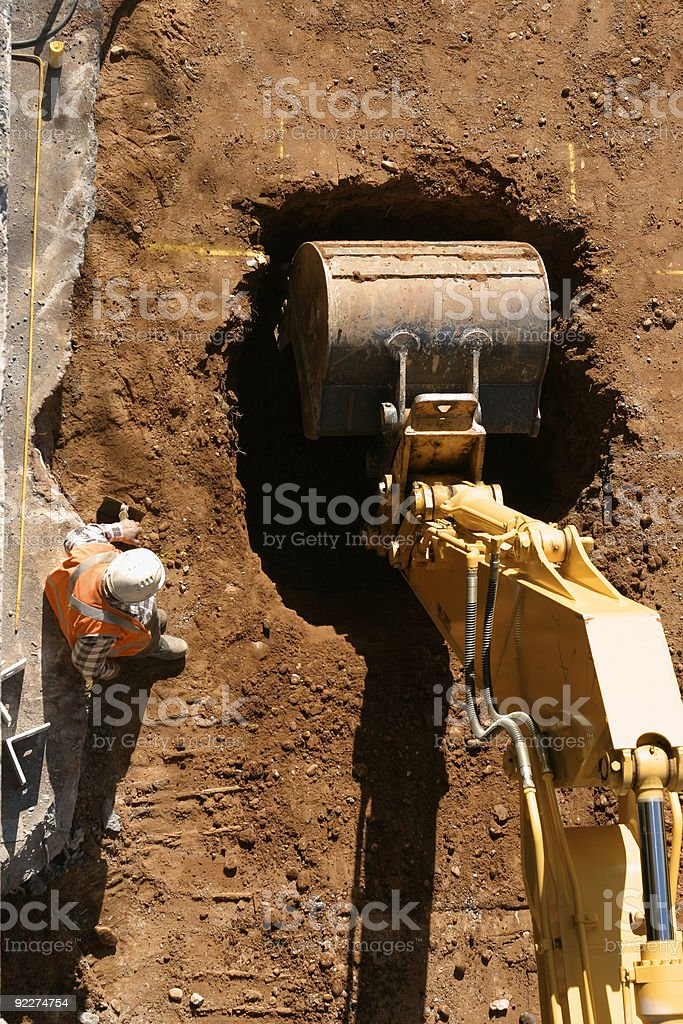 The Dig Begins stock photo
