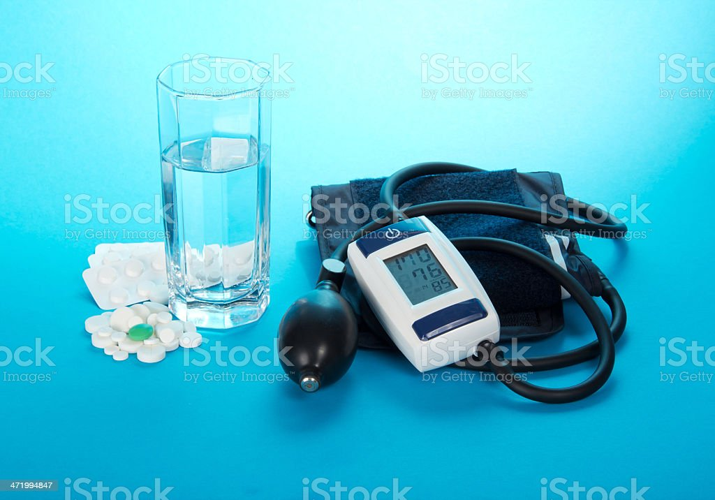 The digital device for measurement of arterial pressure royalty-free stock photo