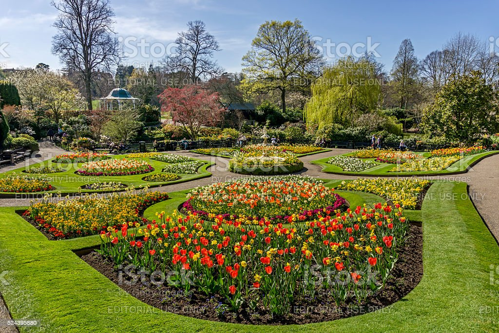 The Dingle Gardens, Shrewsbury stock photo