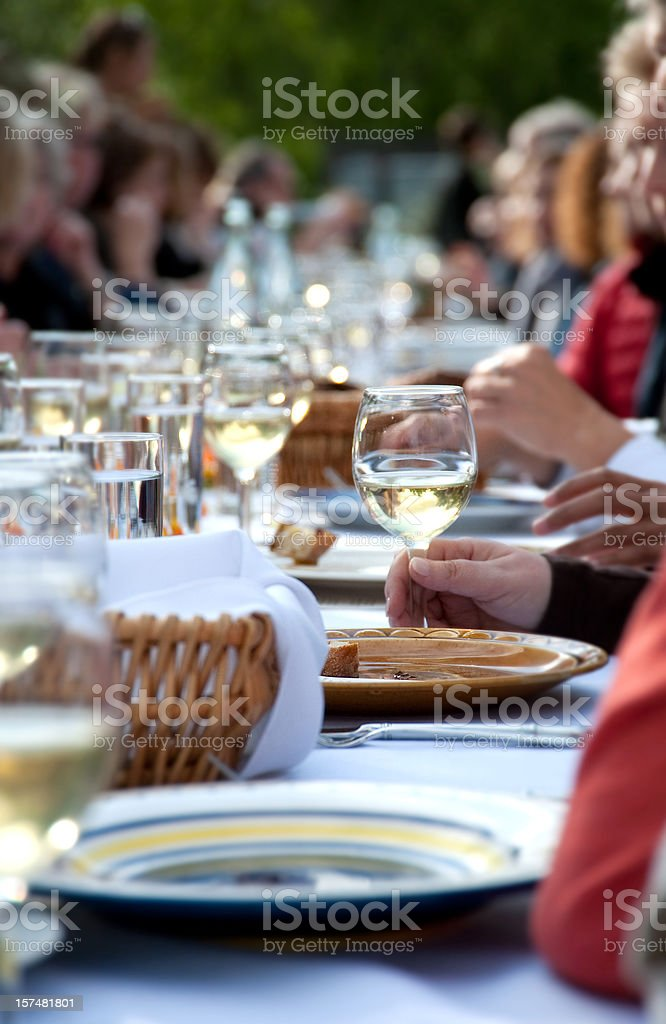 The Dinner Party royalty-free stock photo