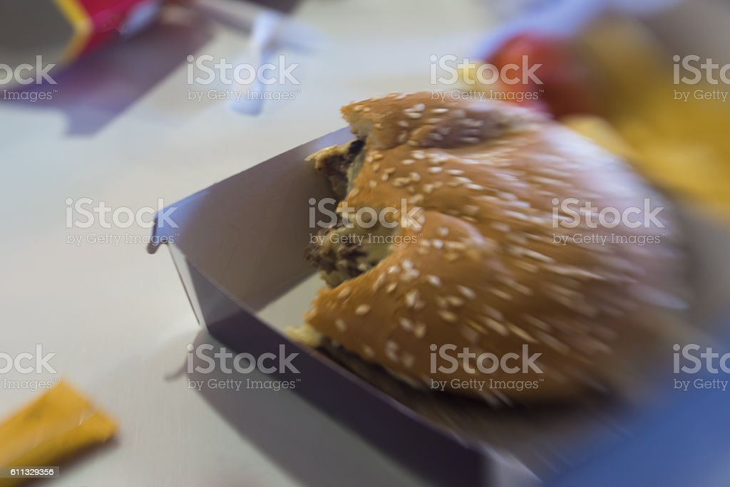 The Dirty Ole Cheese Burger stock photo