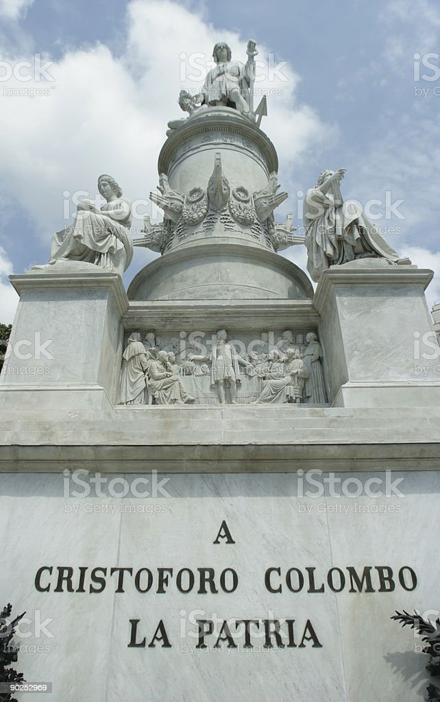 the discover of America (Cristoforo Colombo) royalty-free stock photo