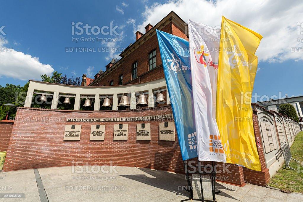 The Divine Mercy Sanctuary in Lagiewniki stock photo