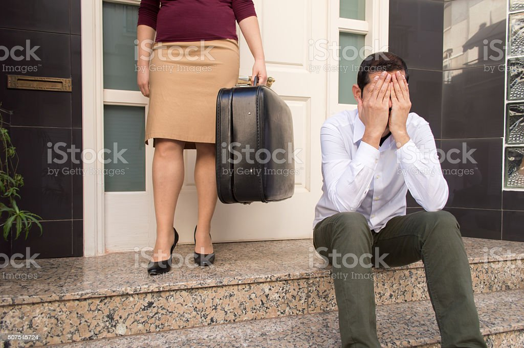 the divorce is coming stock photo
