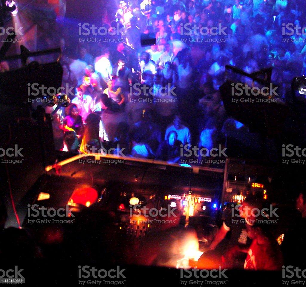 The DJ view stock photo