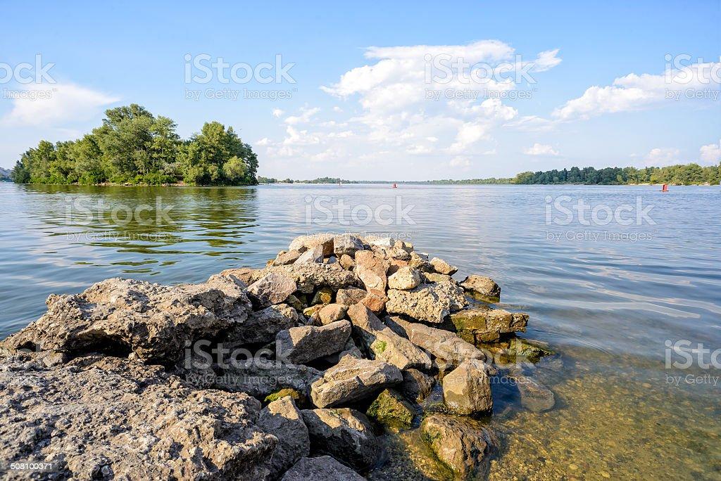 The Dnieper River in Kiev stock photo