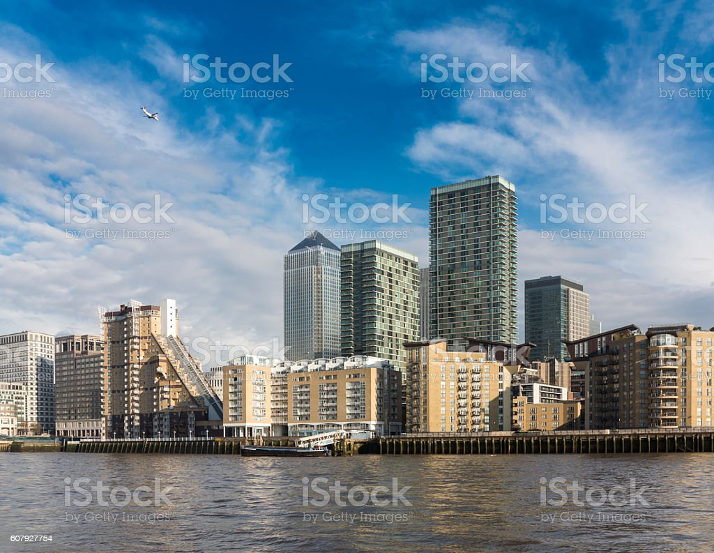 The Docklands skyscrapers, London stock photo
