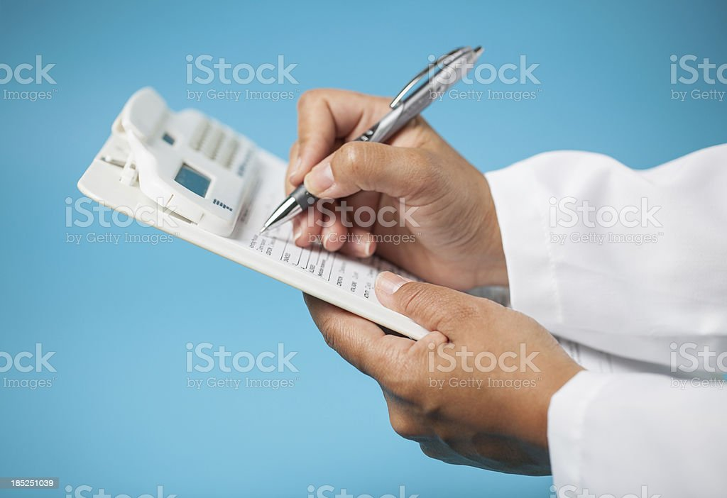 the doctor checklist royalty-free stock photo