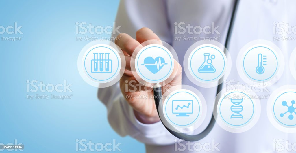 The doctor spends listening. stock photo