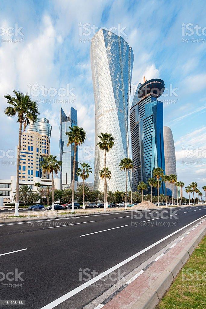 The Doha Corniche, Qatar stock photo