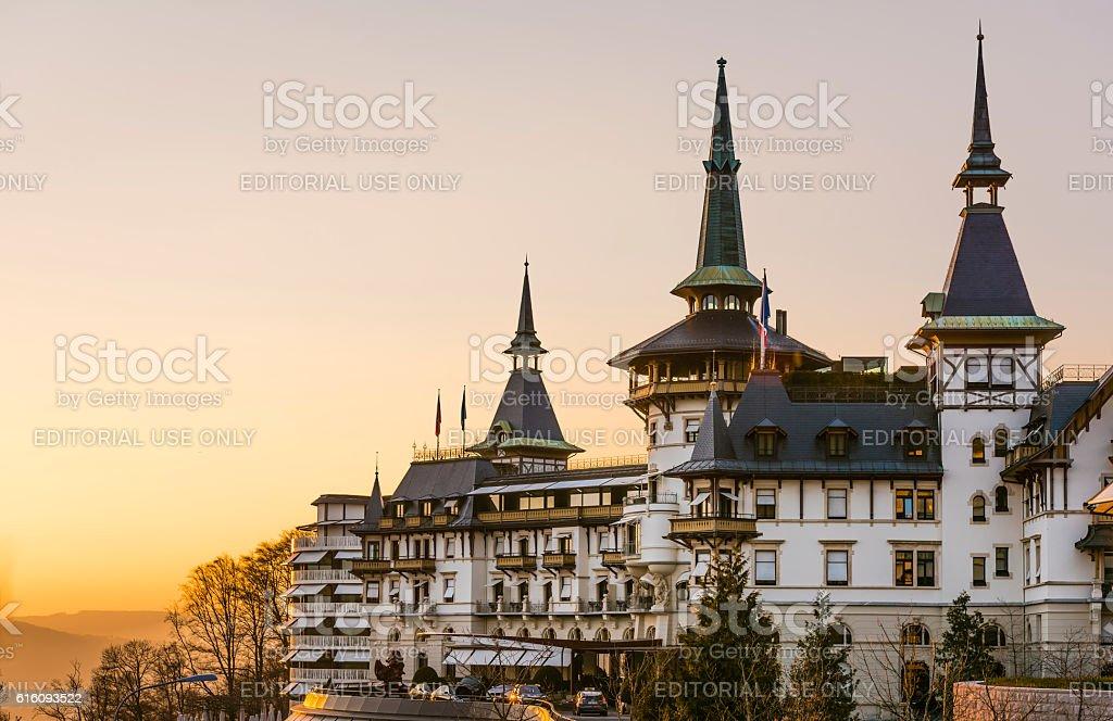 The Dolder Grand luxury hotel in Zurich, Switzerland stock photo
