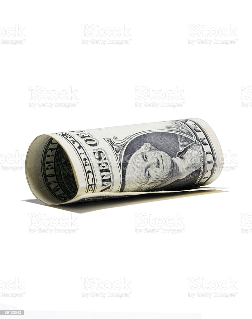 The dollar has falen royalty-free stock photo