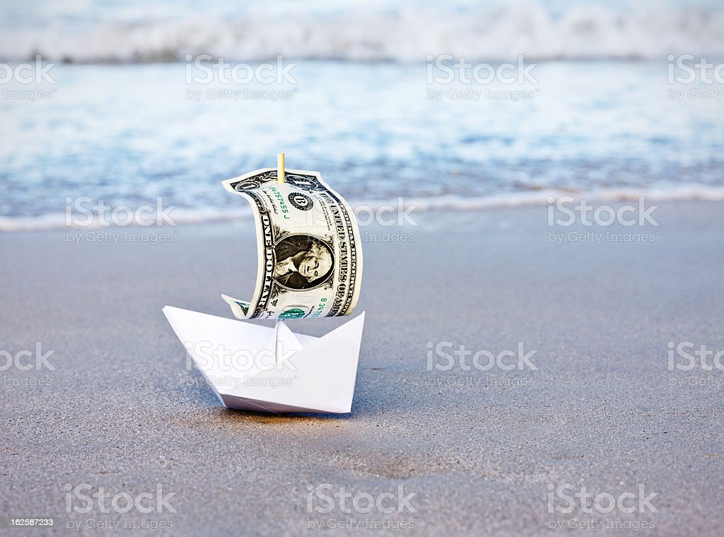 The dollar in difficulties! stock photo
