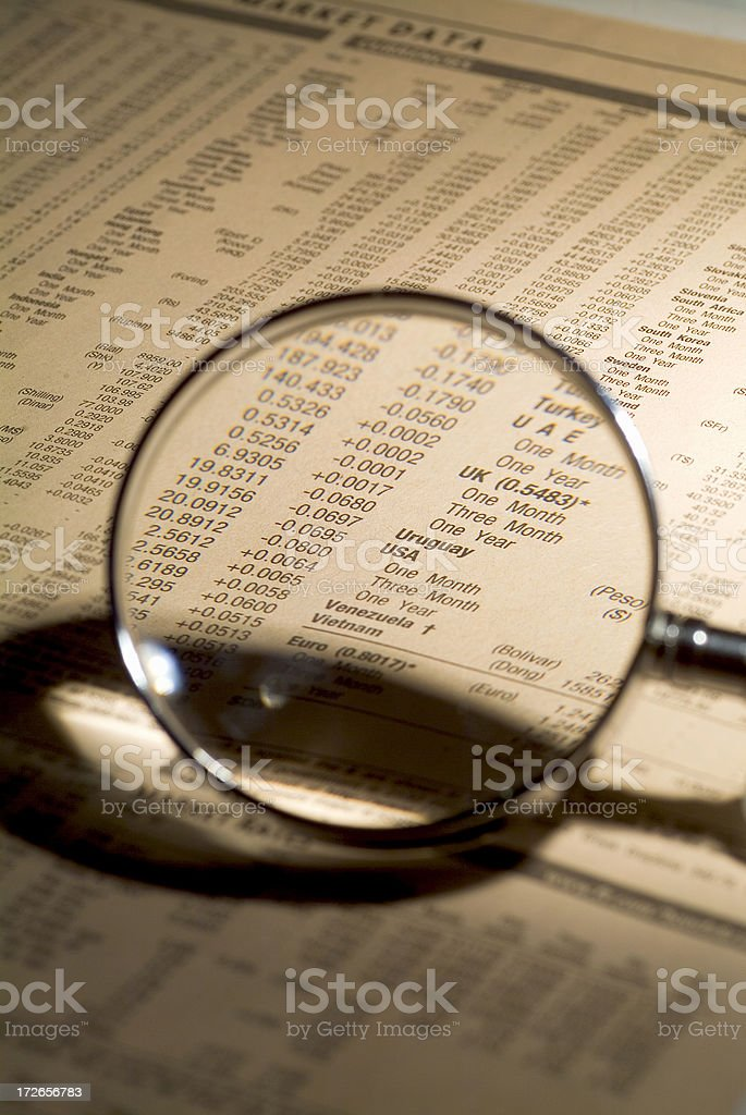The Dollar through a magnifying glass 01 royalty-free stock photo