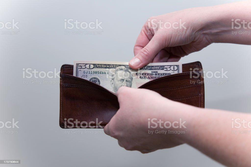 The dollars royalty-free stock photo