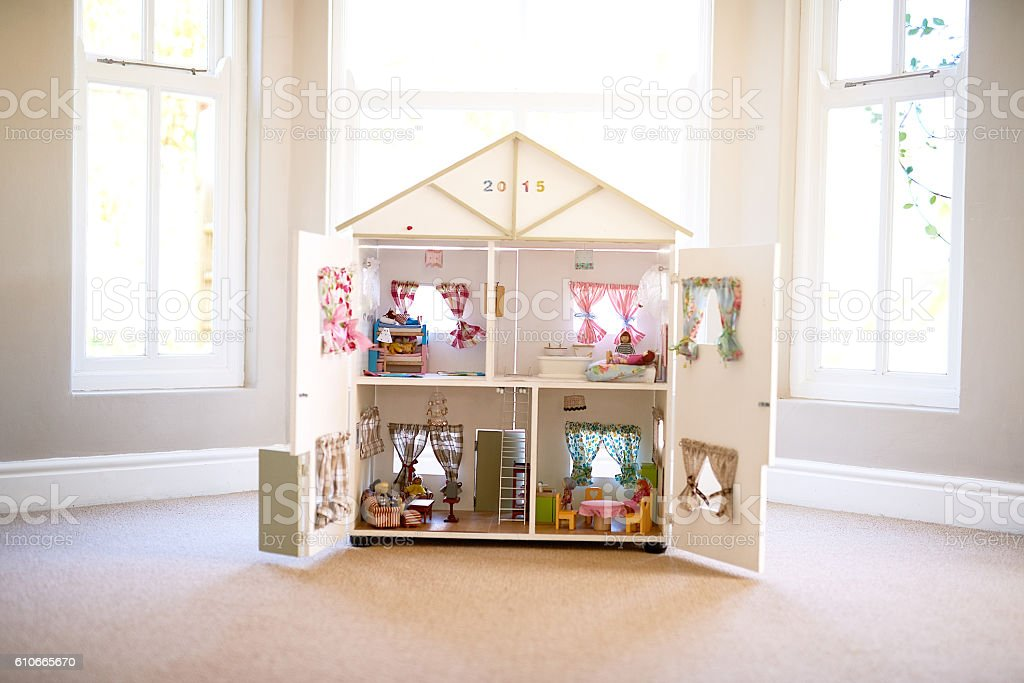 The dolls' home stock photo