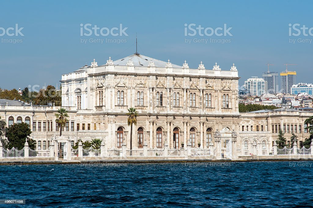 The Dolmabahce Palace in Istanbul stock photo