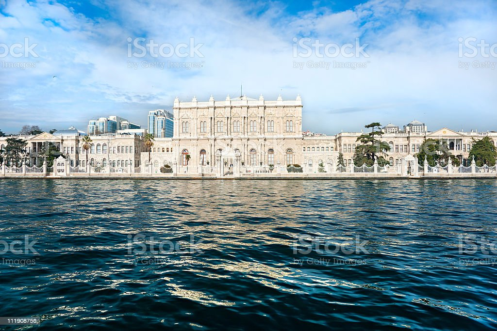 The Dolmabahce palace, istanbul. Turkey. stock photo