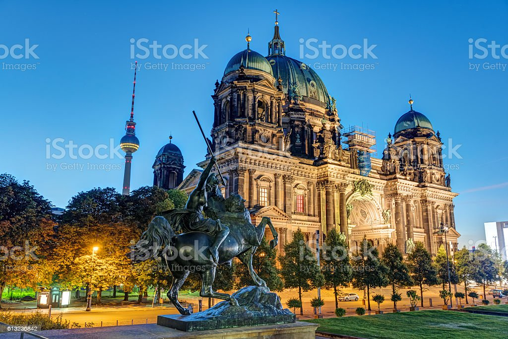 The Dom and the TV Tower in Berlin stock photo