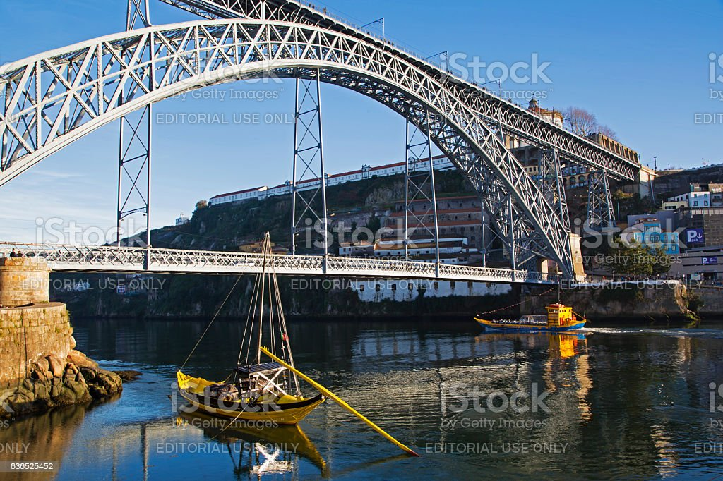 The Dom Luís I bridge in Porto stock photo