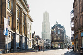 The Dom Tower in the historic center of Utrecht