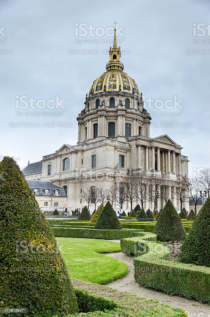 The Dome Cathedral, Les Invalides, Paris stock photo